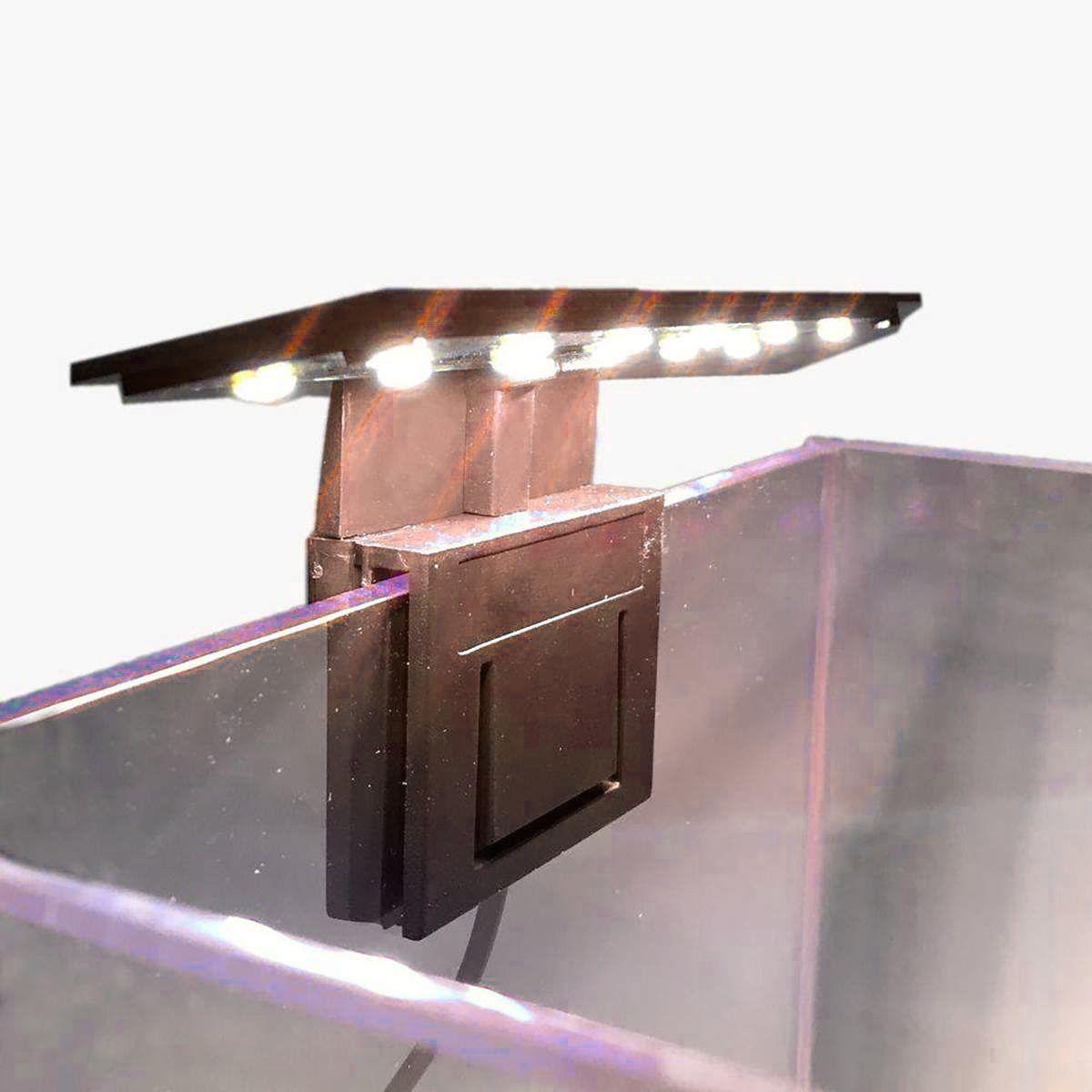 LUMINÁRIA LED SOMA X3 PRETA (5W) LED BRANCO/VERMELHO