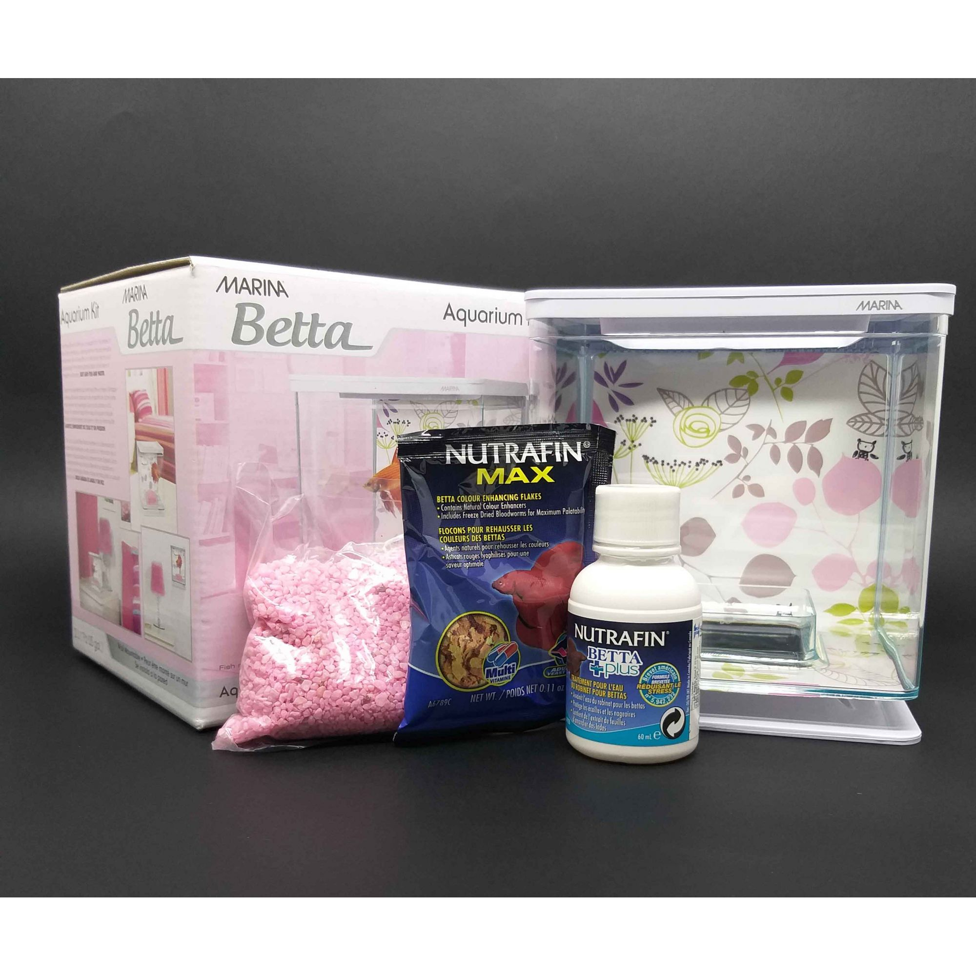 Marina Betta Kit Aquário 2l Rosa