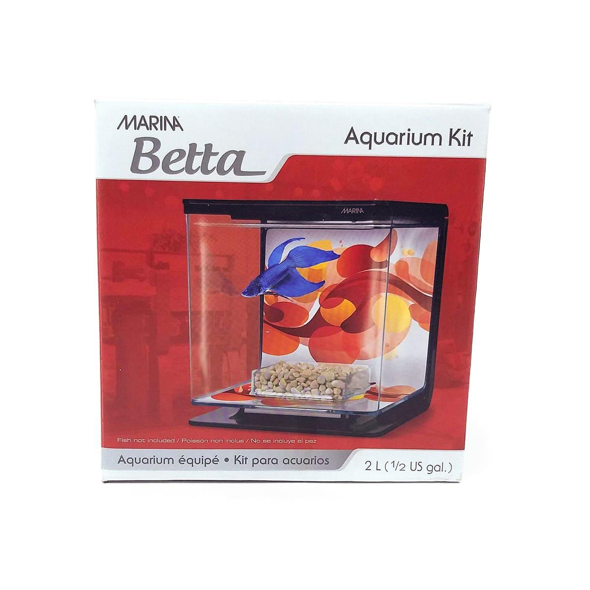 Marina Betta Kit Aquário 2L - Preta