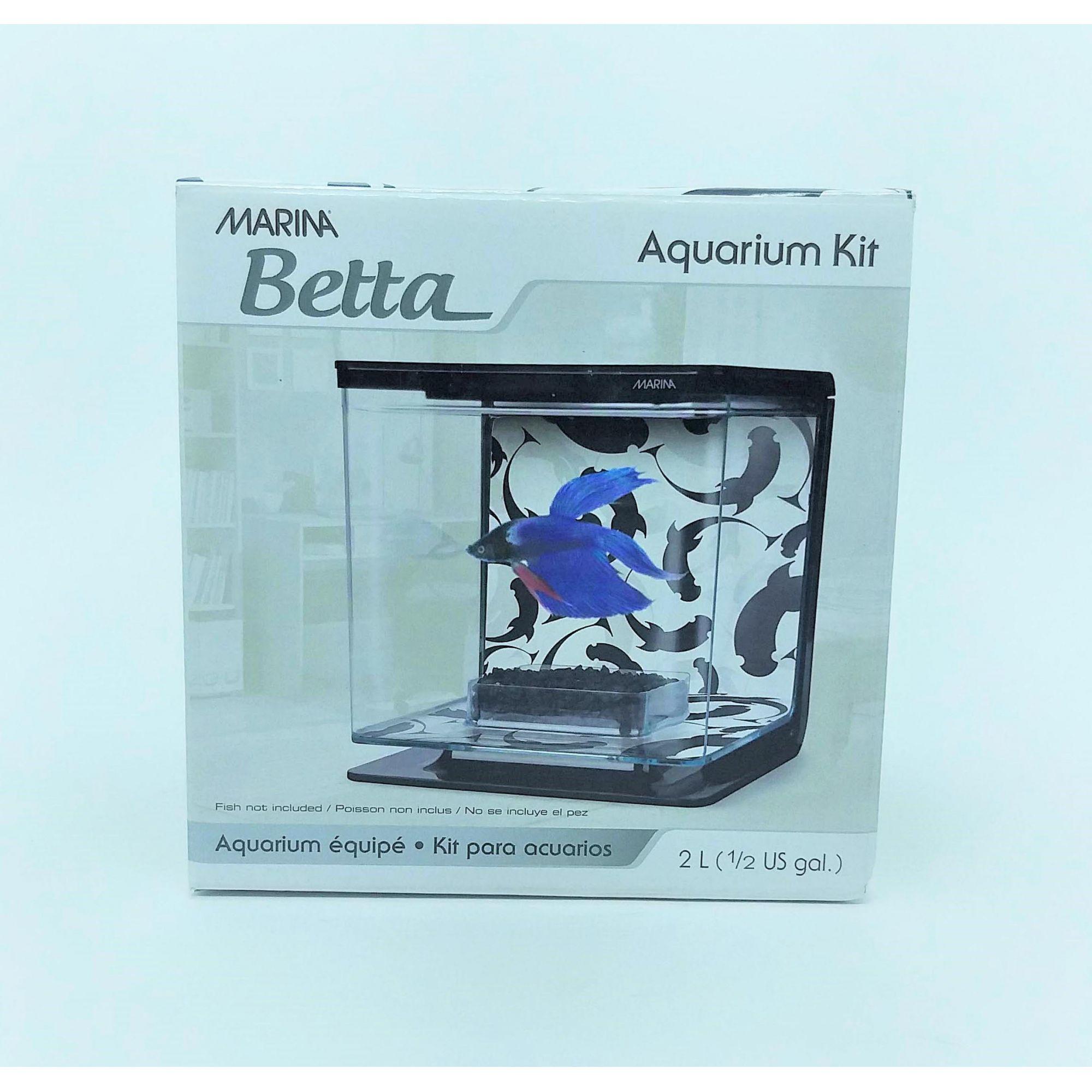 Marina Betta Kit Aquário 2l Preto