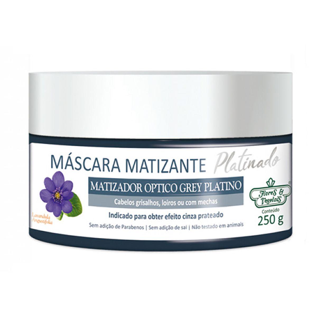 Máscara Matizante Platinado Flores e Vegetais - 250G