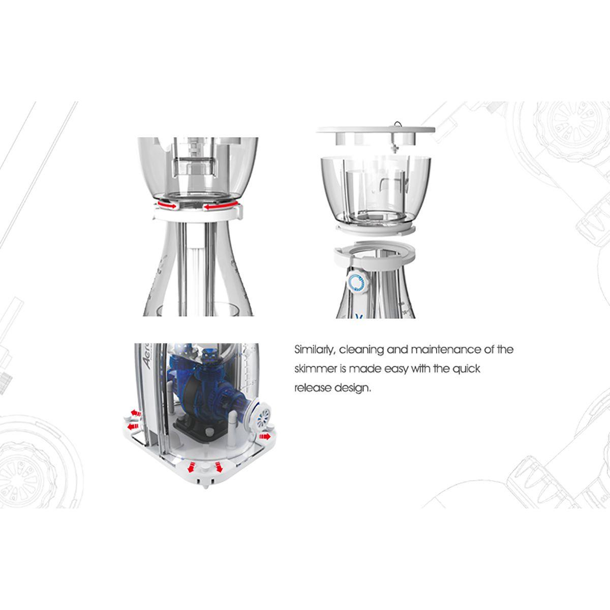 Maxspect Aeraqua Duo 600 - Skimmer com Bomba DC e Controle
