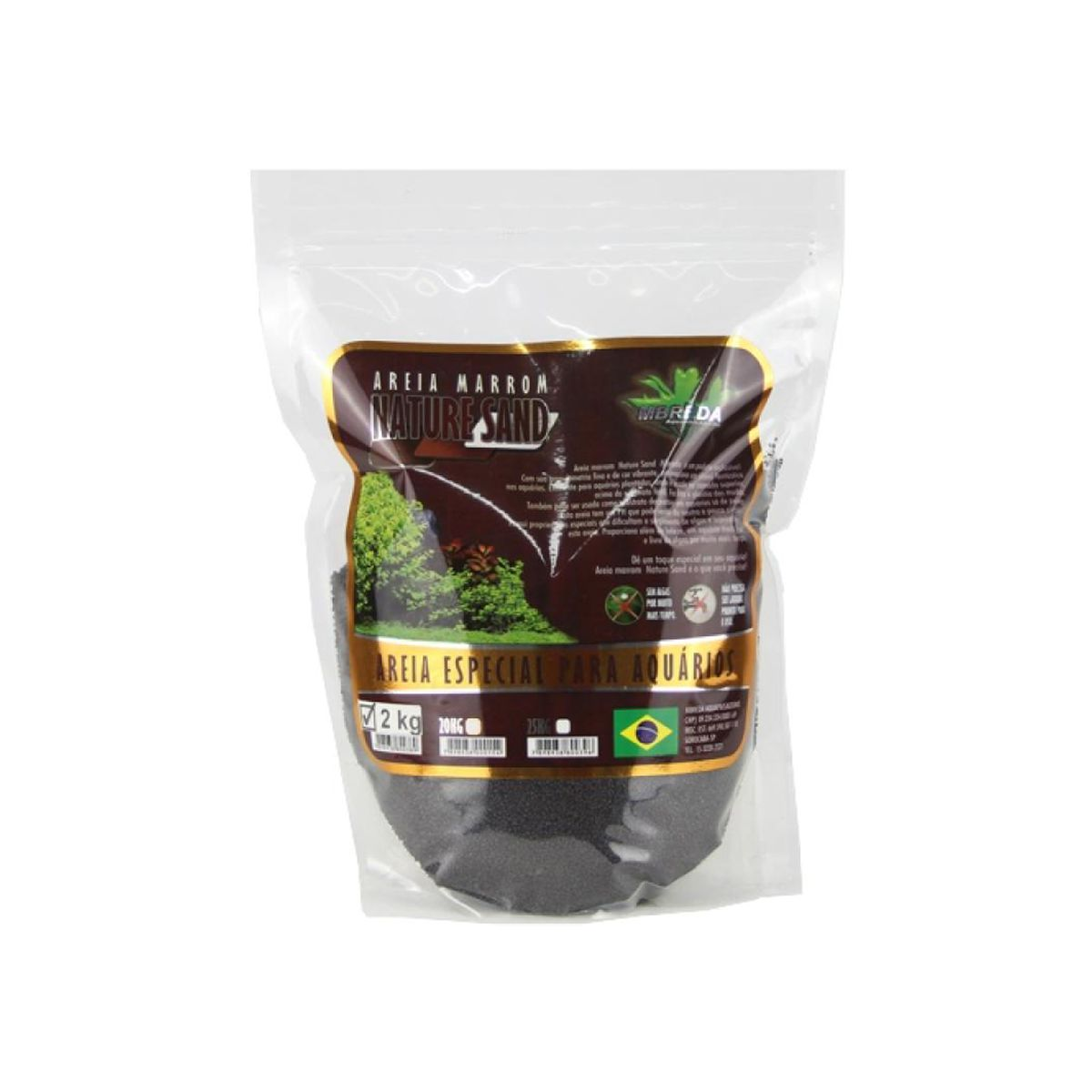Mbreda Areia Nature Sand 2kg Stand Up Pouch Substrato Inerte