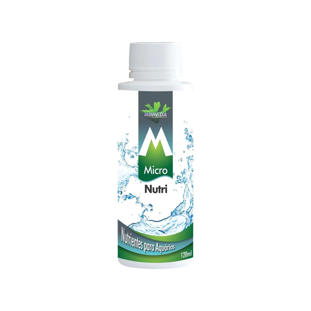 Mbreda Fertilizante Micronutri 120ml Nutrientes P/ Aquários