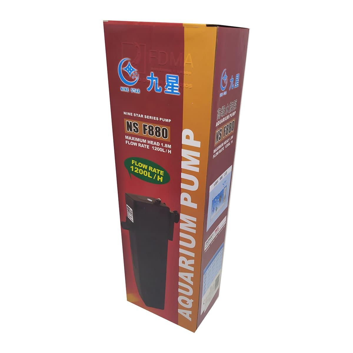 Filtro Interno Minjiang Ns F880 1200l/h Aquários até 150L