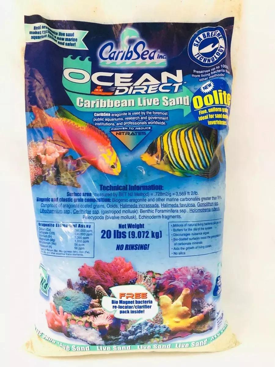 Substrato Vivo Aragonita oolítica Ocean Direct 20LBS 9kg