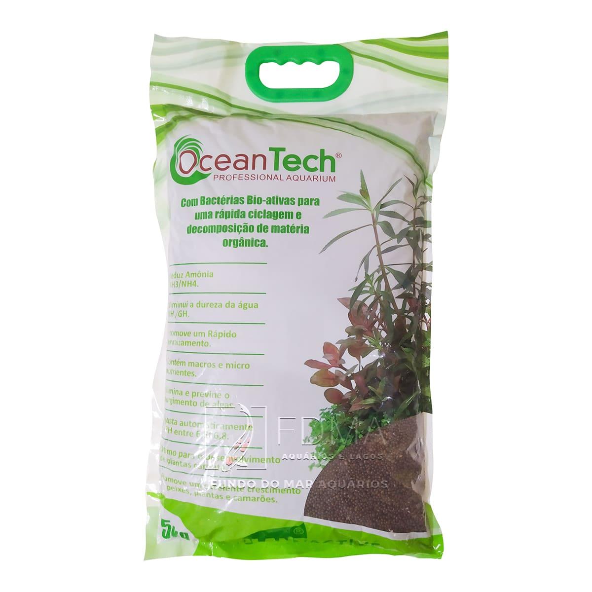 Ocean Tech Substrato Fértil Plant Active 5Kg - Marrom