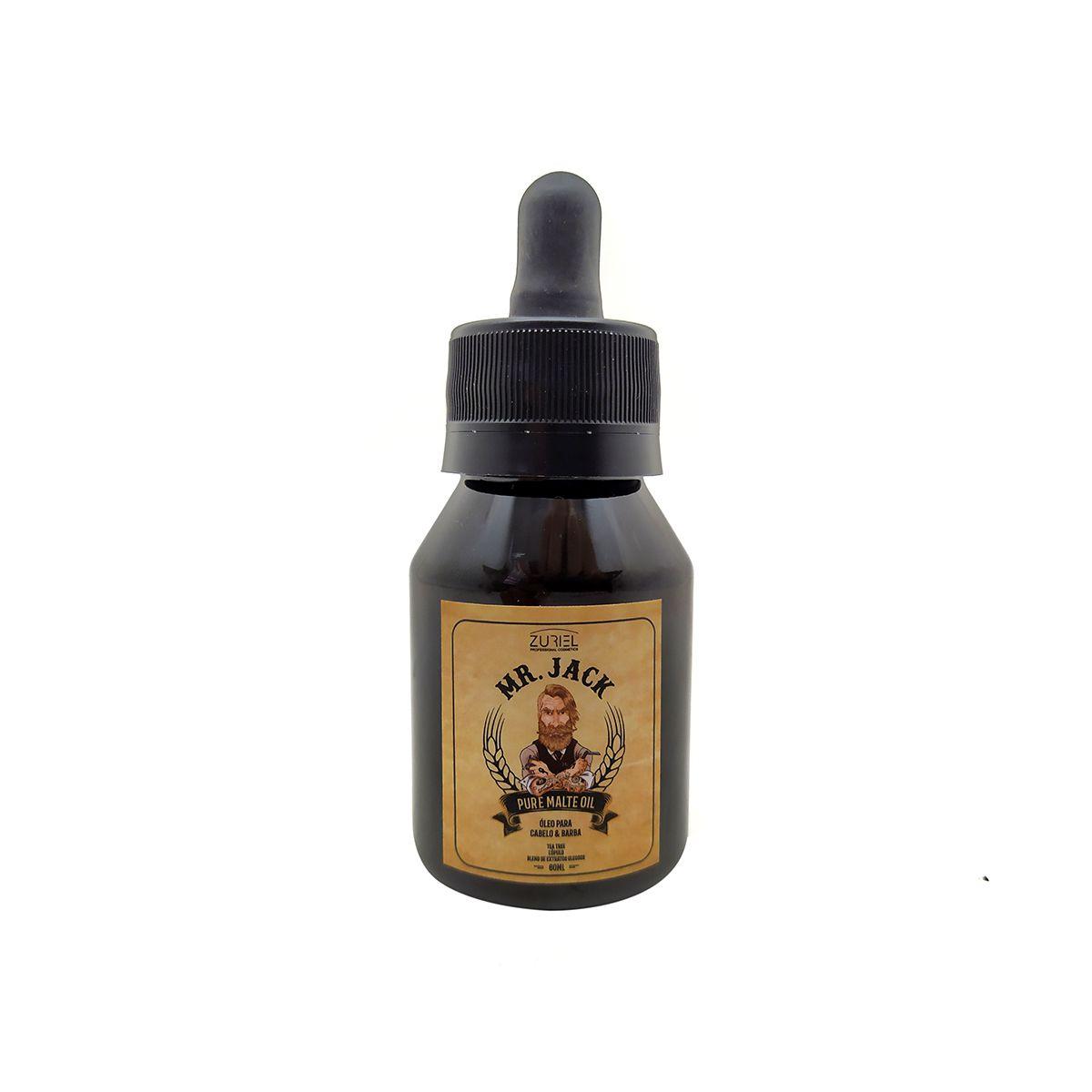 Óleo para Barba e Cabelo Pure Malt Oil Mr Jack - 60ml