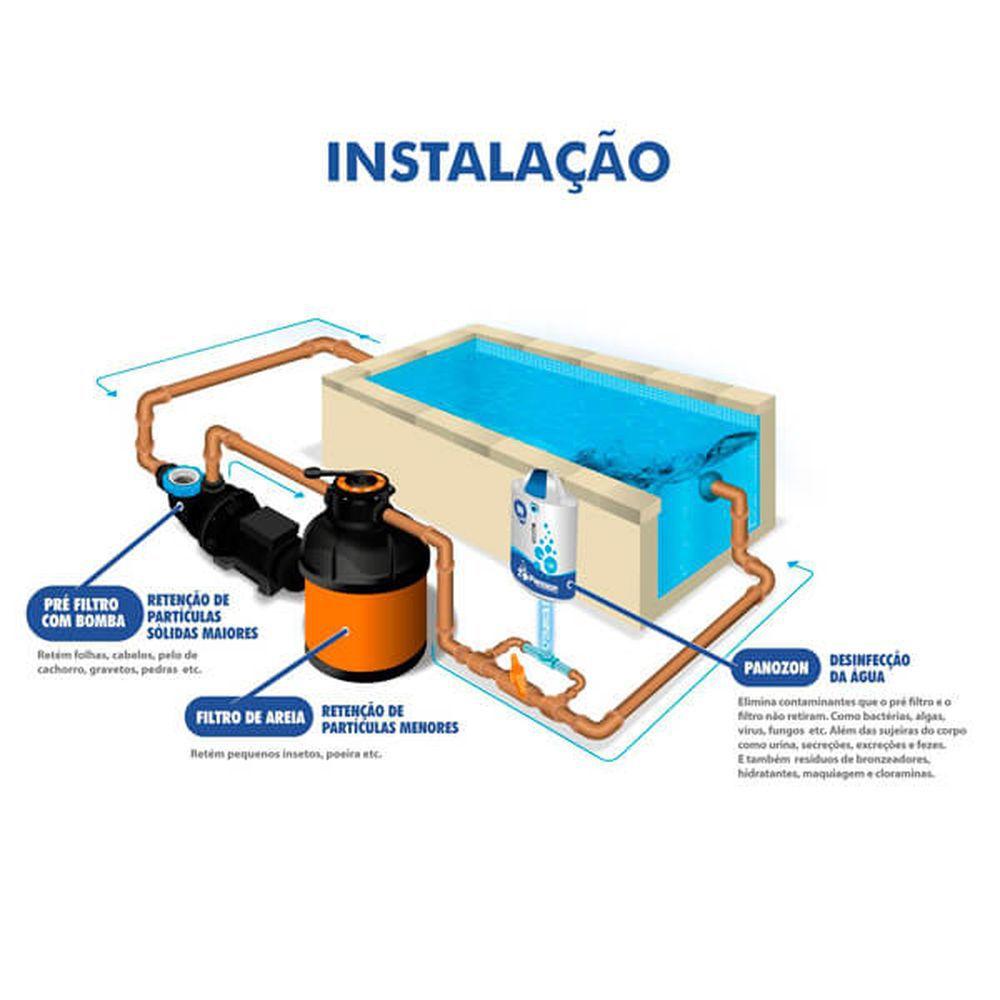 Sistema de Tratamento de Agua Panozon P+45 - 220v