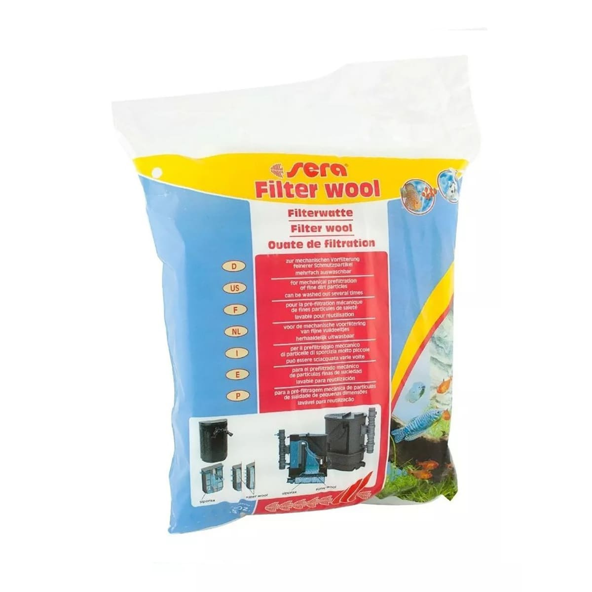Perlon Sera Filter Wool 250g Retém Sujeira E Partículas