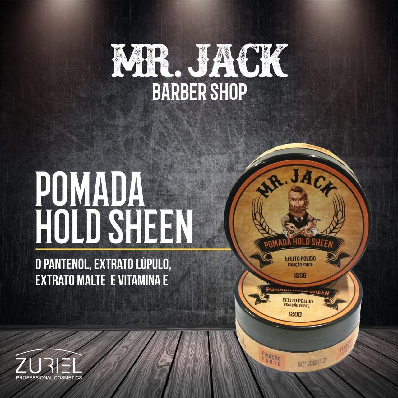 Pomada p/ Cabelo e Barba Gel Wet Sculpt Mr jack - 120g