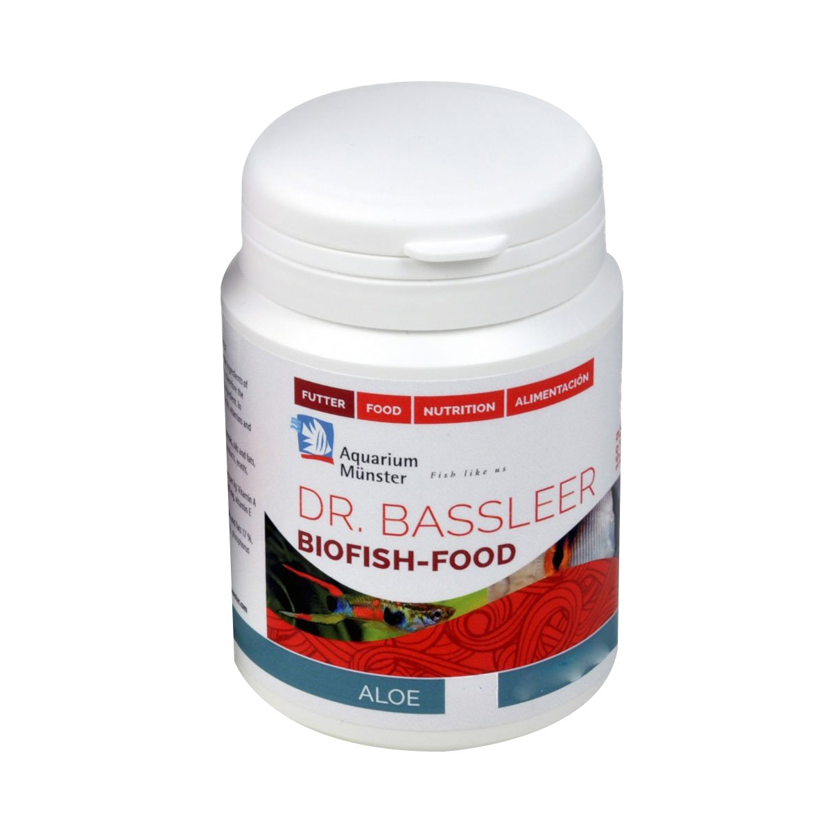 Ração Dr Bassleer Biofish Aloe L 60g Auxilia na Imunidade