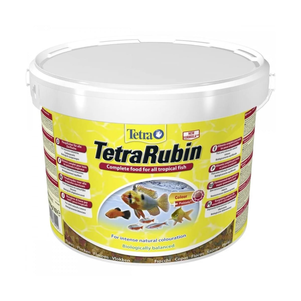 Ração em flocos Tetra Rubin Colors 2.05kg Coloração Intensa