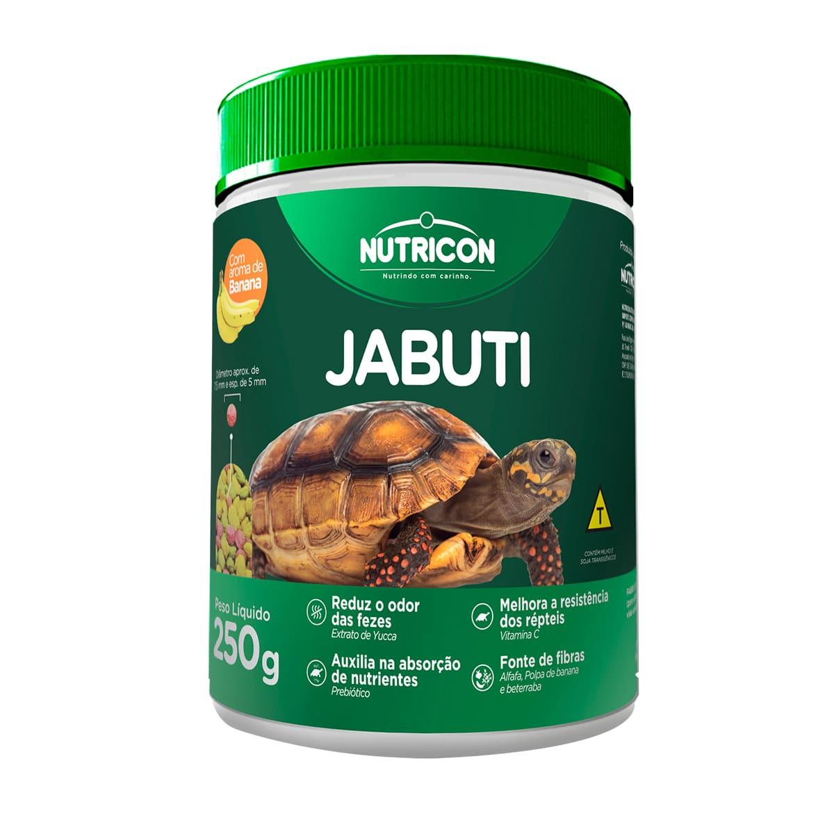 Ração Nutricon Jabuti 250g - Alimento com Aroma de Banana