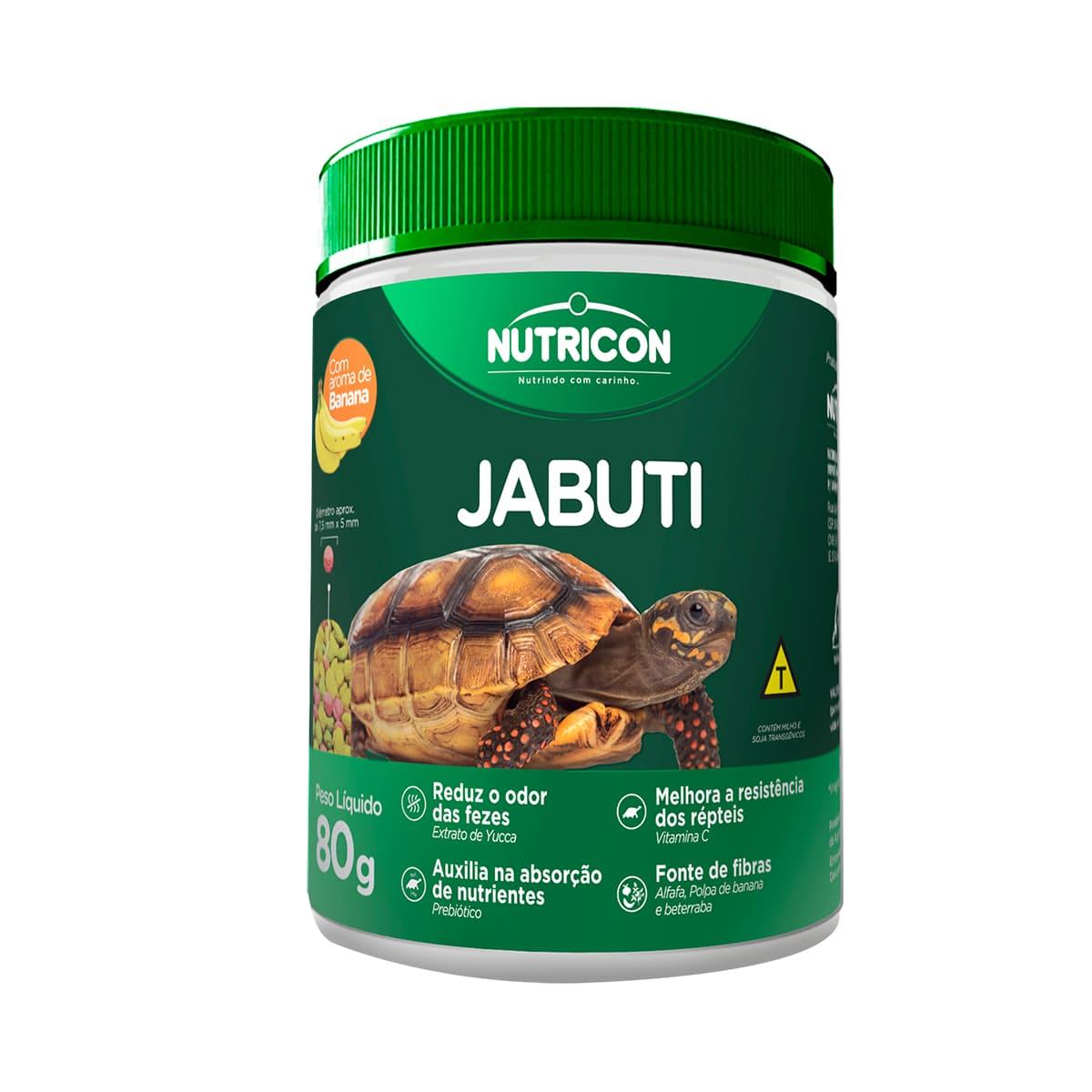 Ração Nutricon Jabuti 80g - Alimento com Aroma de Banana