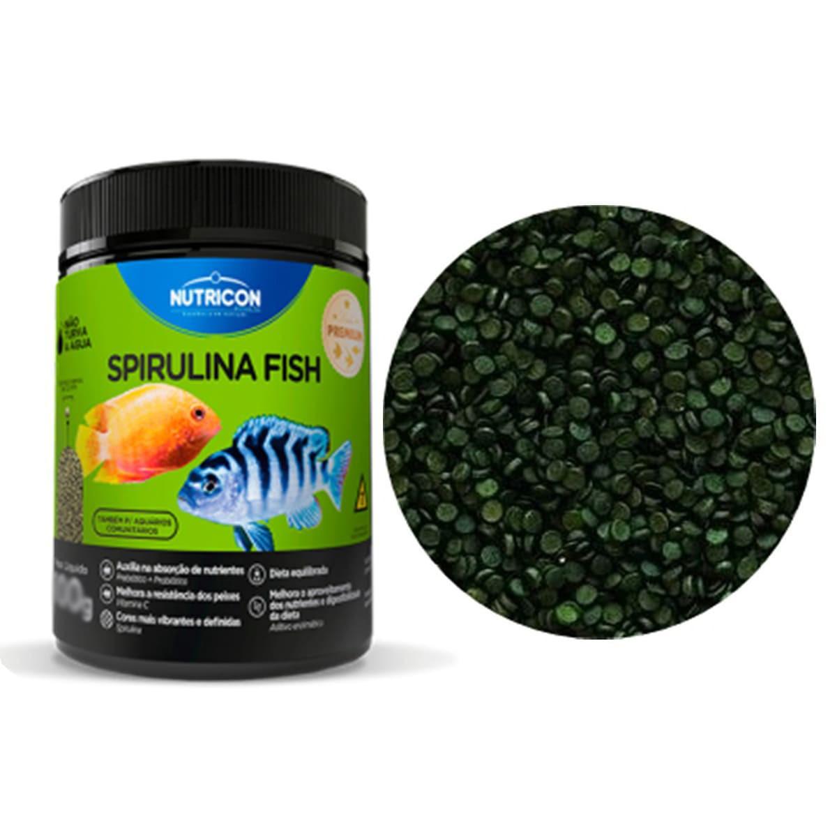 Ração Nutricon Marinhos 160g + Nutricon Spirulina Fish 100g