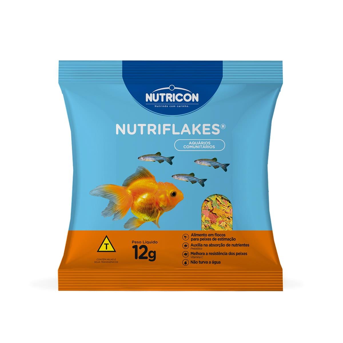 Ração Nutricon Flocos Nutriflakes 12g  Especial Comunitários