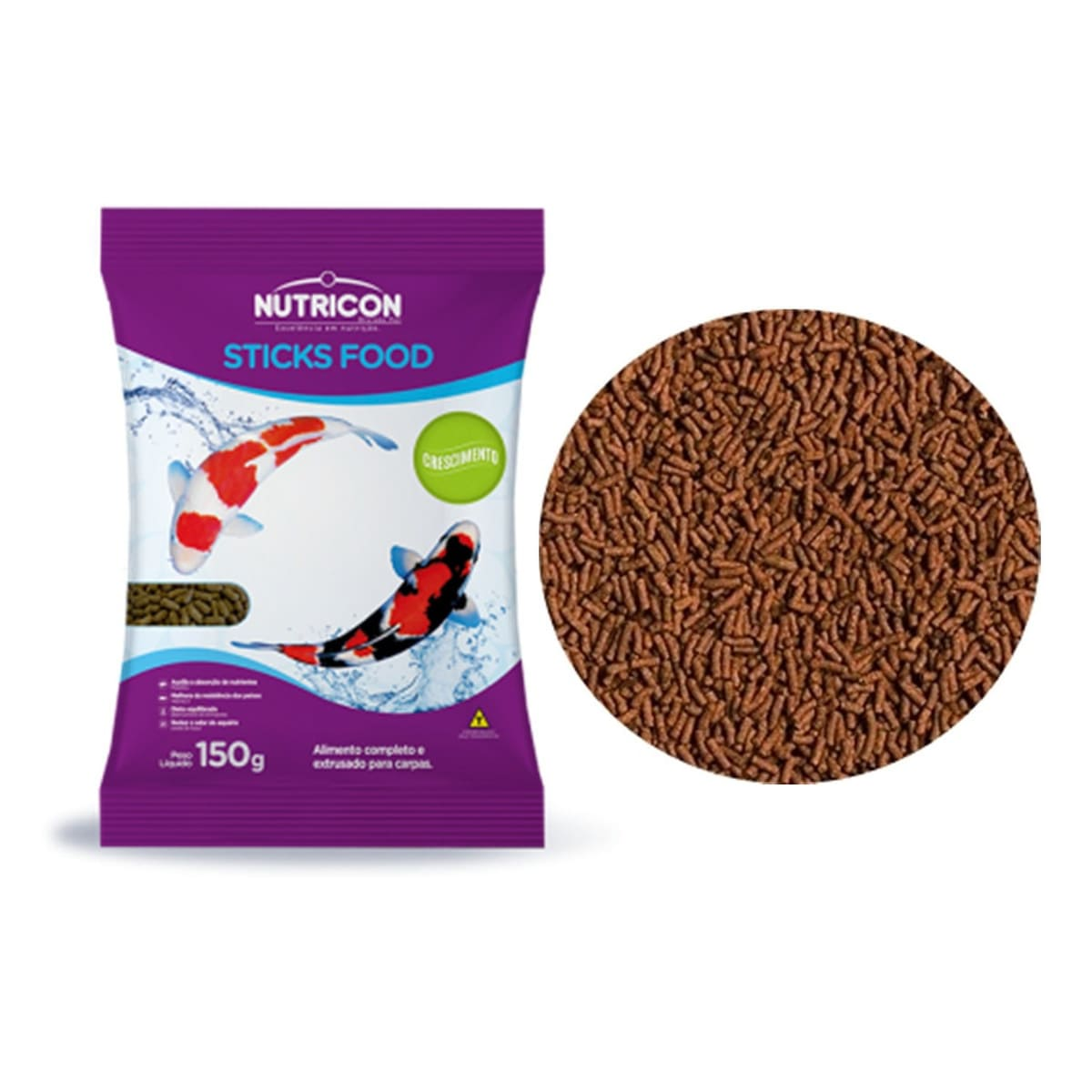 Ração Nutricon Sticks Food Carpas em Crescimento - 150g