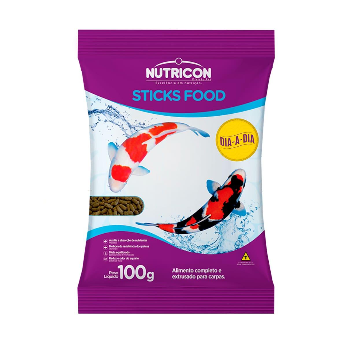 Ração Nutricon Sticks Food Dia-A-Dia 100g - Carpas Adultas