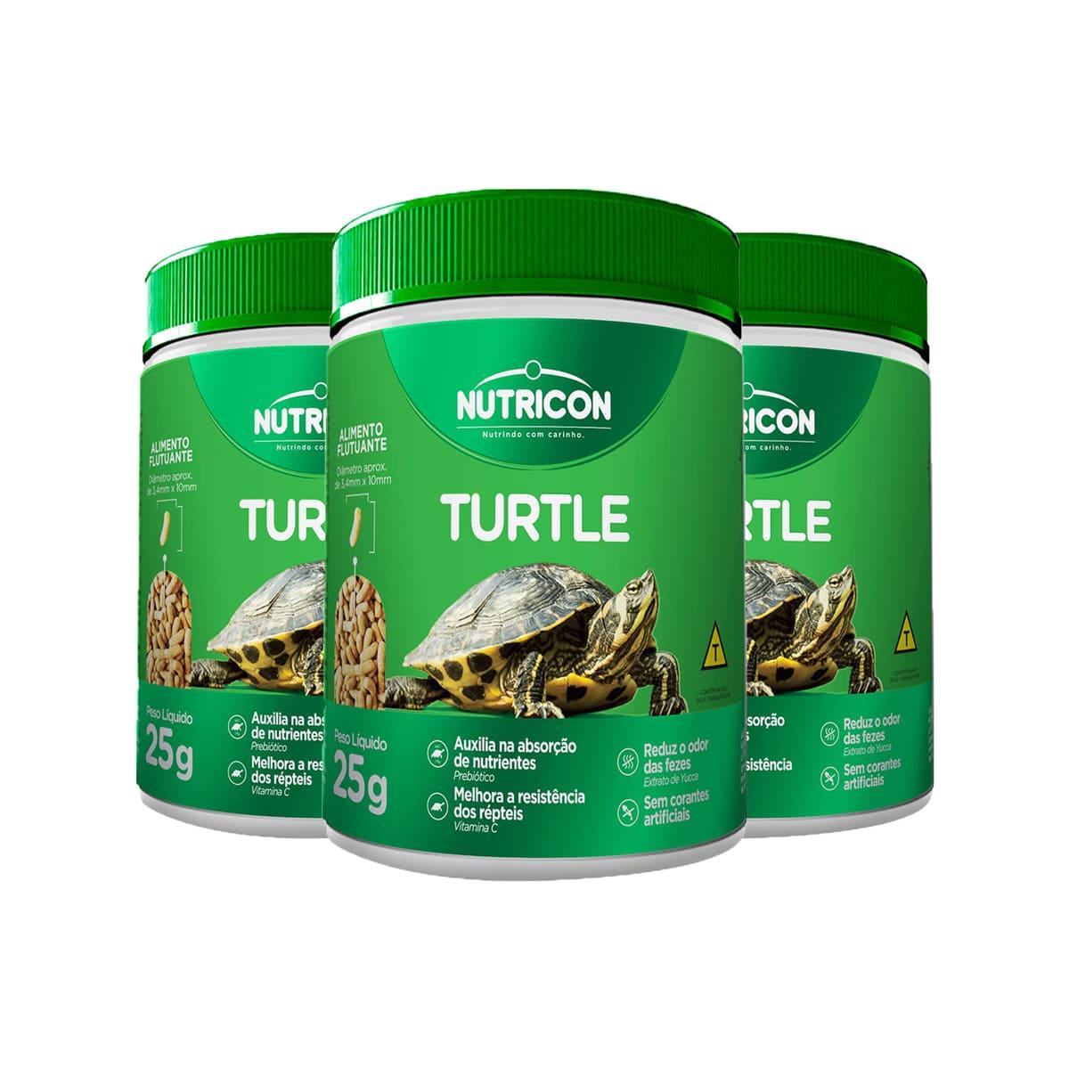 Ração Nutricon Turtle 100g para Répteis Aquáticos