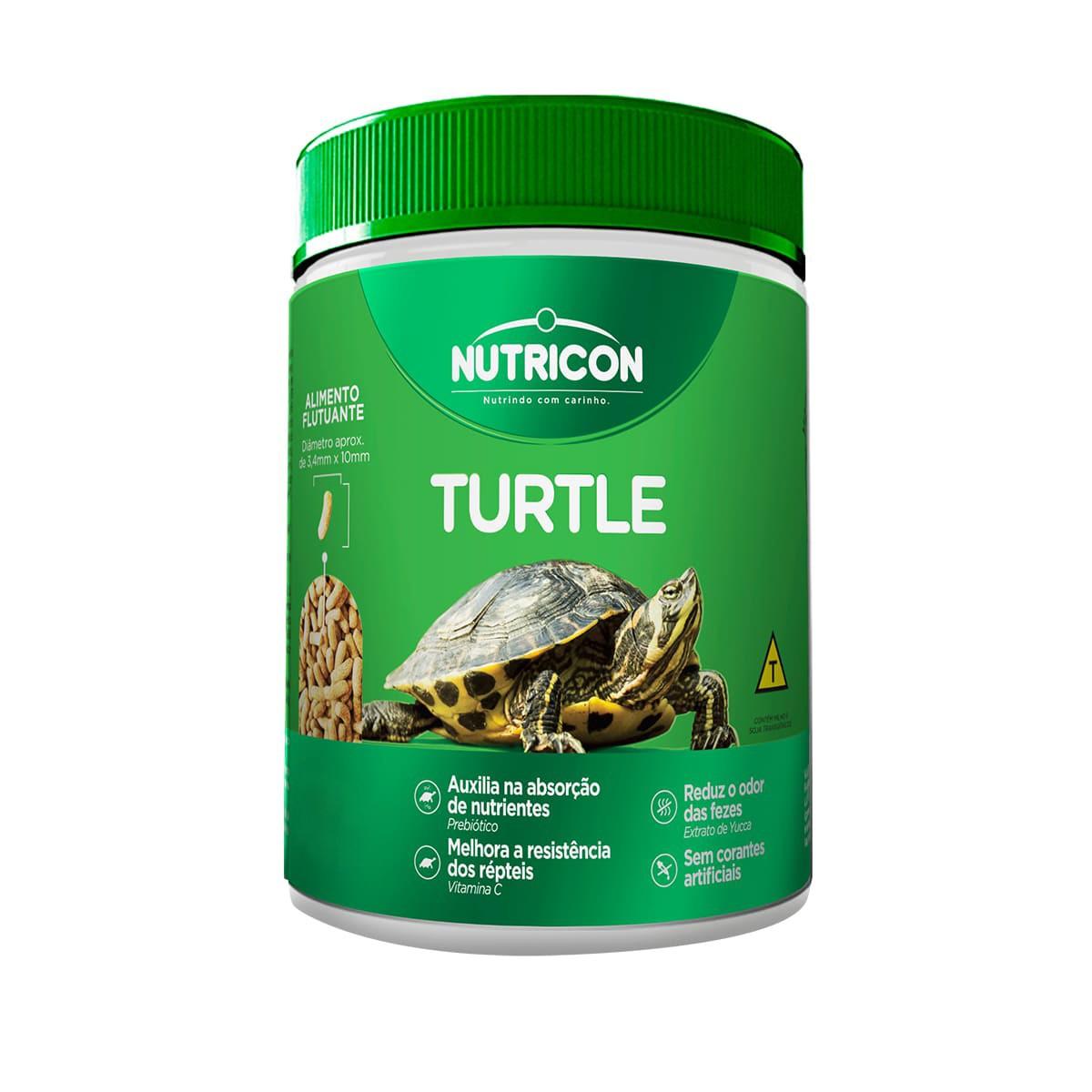 Ração Nutricon Turtle 75g - para Répteis Aquáticos