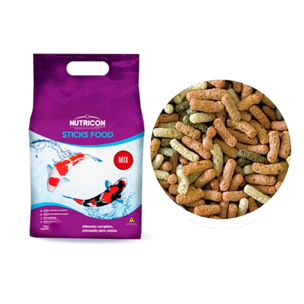 Ração para Carpas Adultas Nutricon Sticks Food Mix - 1,5kg