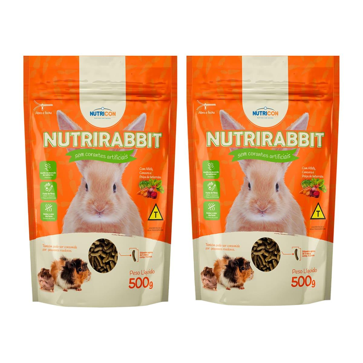 Ração para Coelhos Nutricon Nutrirabbit - 1kg Roedores Pequenos