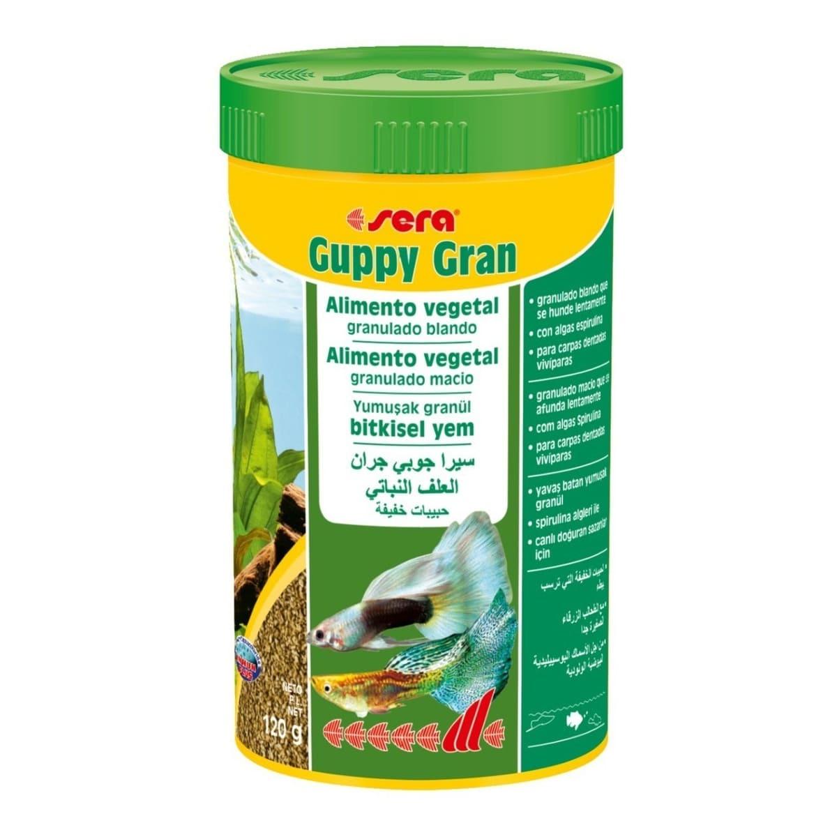 RAÇÃO PARA LEBISTES SERA GUPPY GRAN 120G - Premium Food