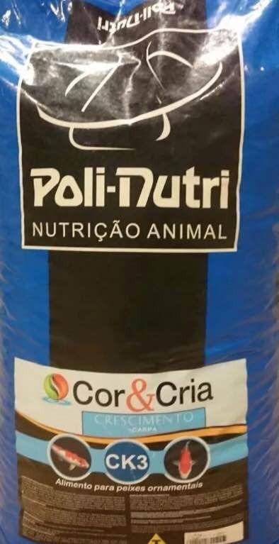Ração Polinutri Ck3 Cor&cria Crescimento Carpa Kinguio 15kg
