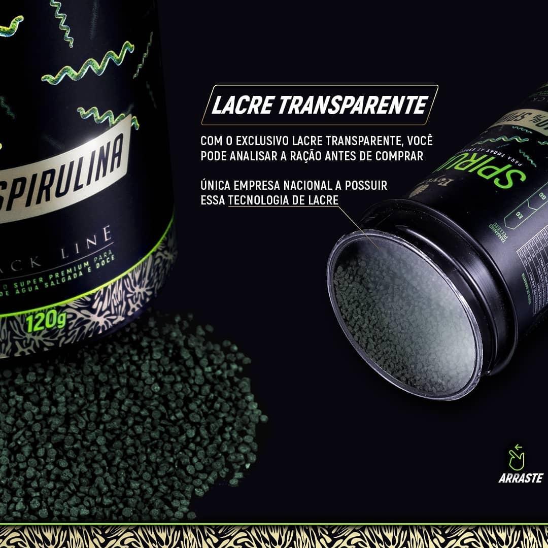 Ração Poytara Black Line Pellets M 40% Spirulina - 120g