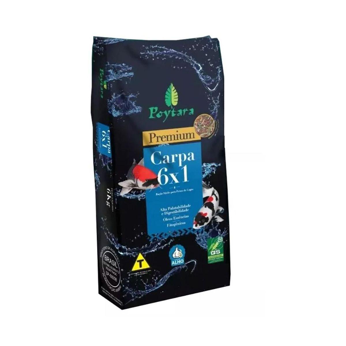 Ração Poytara P/carpas Sticks Premium Mix 6x1 -1,5kg