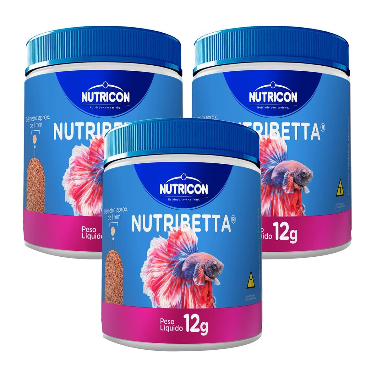 Ração Premium Nutricon Nutribetta 12g para Bettas 3 unidades