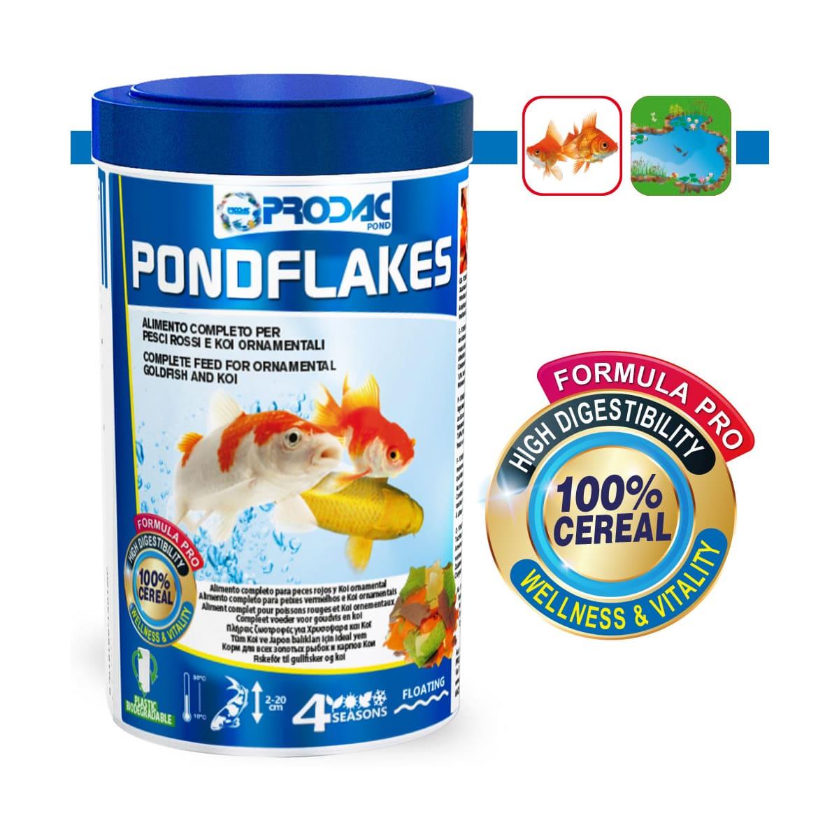 Ração Prodac PondFlakes 160g - para Peixes de Lago até 20cm