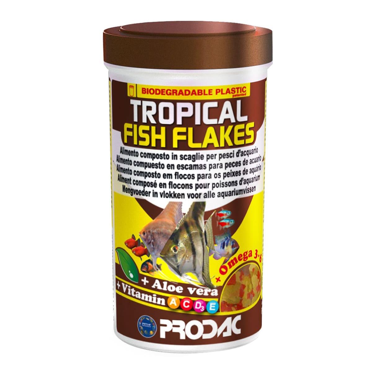 Ração Prodac Tropical Fish Flakes 20g - Flocos para Peixes