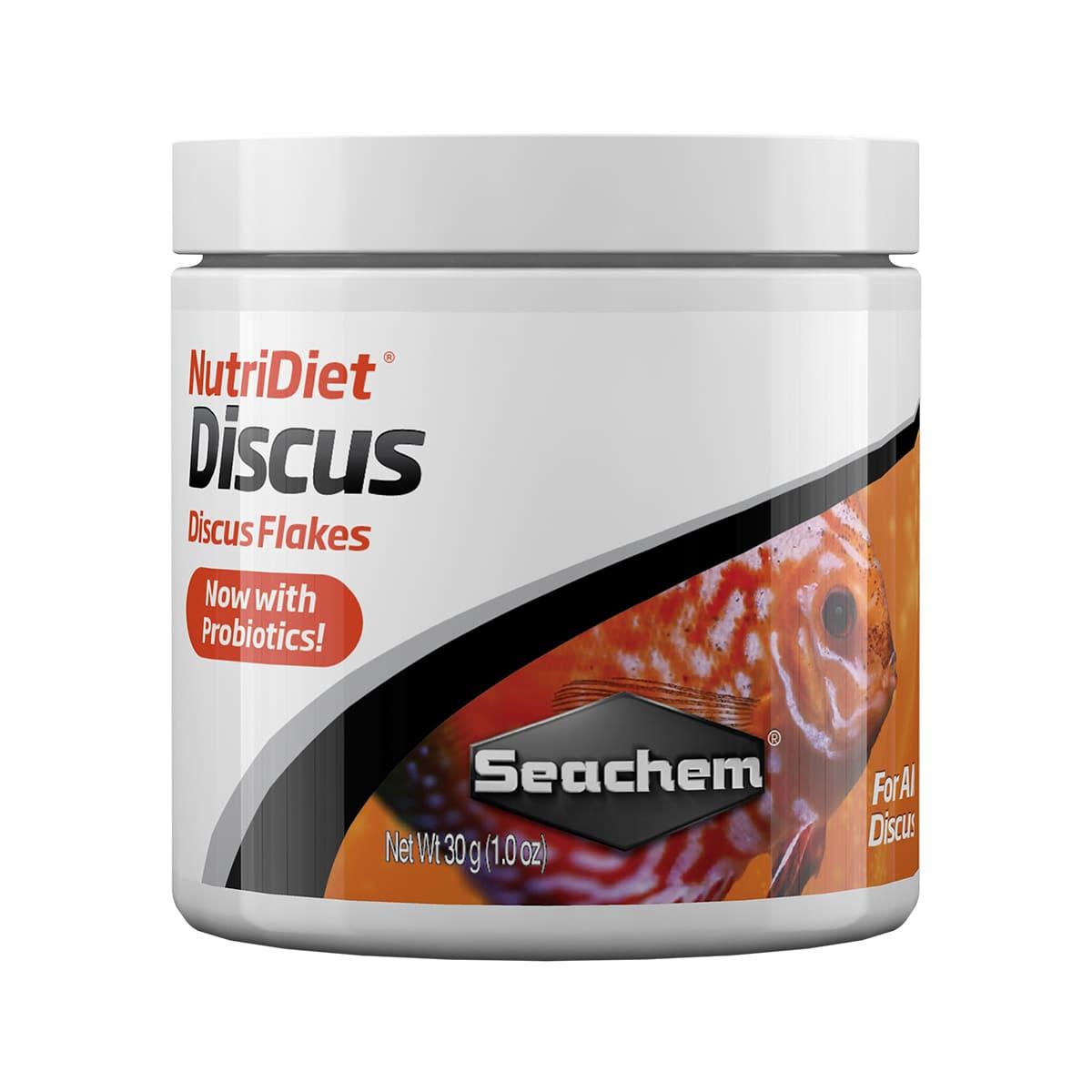 Ração Seachem Nutridiet Discus Flakes Probiotics Formula 30G