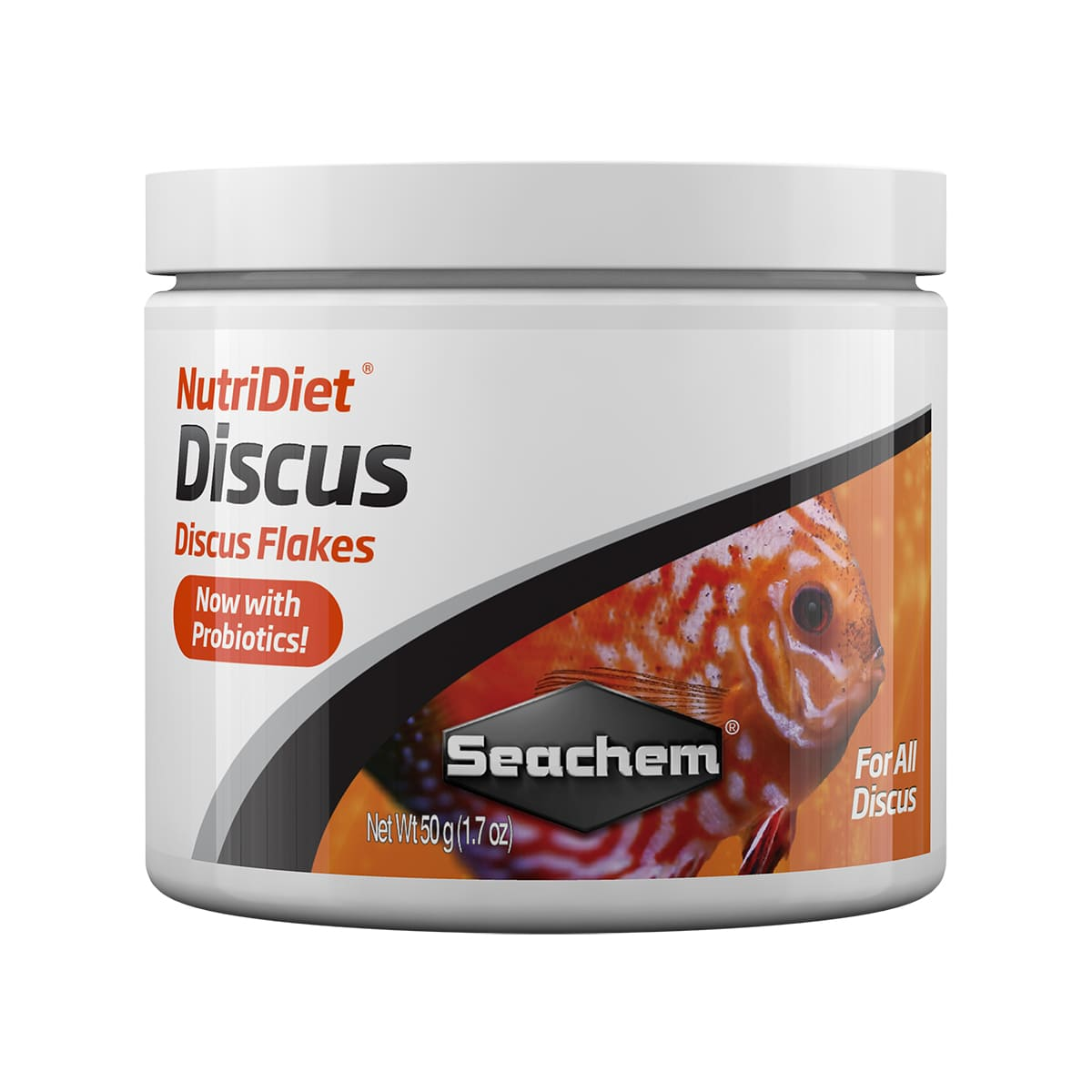 Ração Seachem Nutridiet Discus Flakes Probiotics Formula 50g