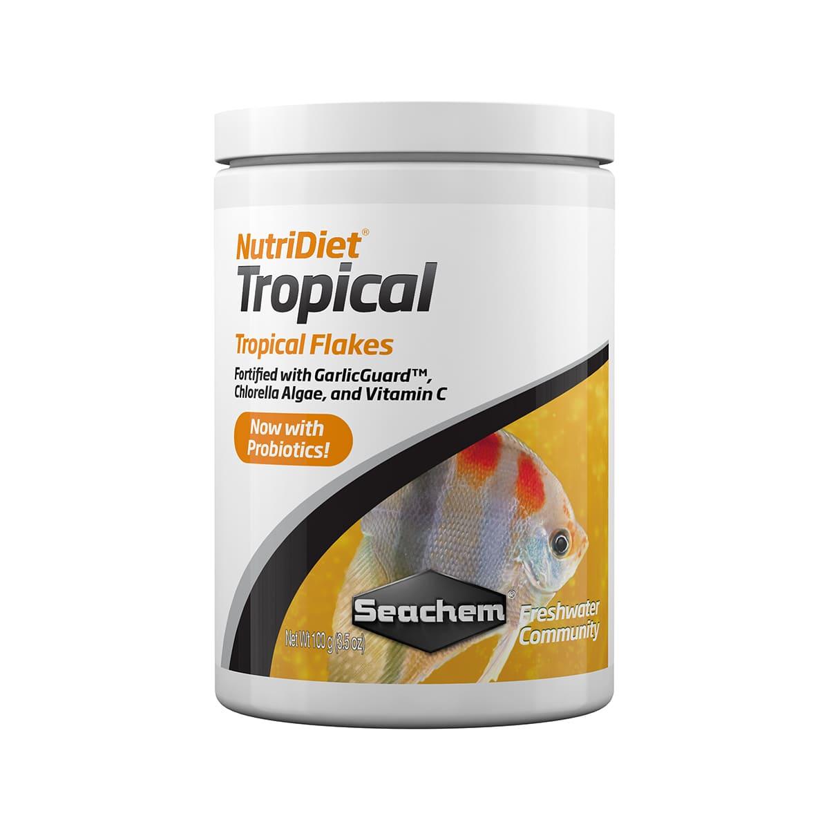 Ração Seachem Nutridiet Flocos Tropicais Probiotic 100g