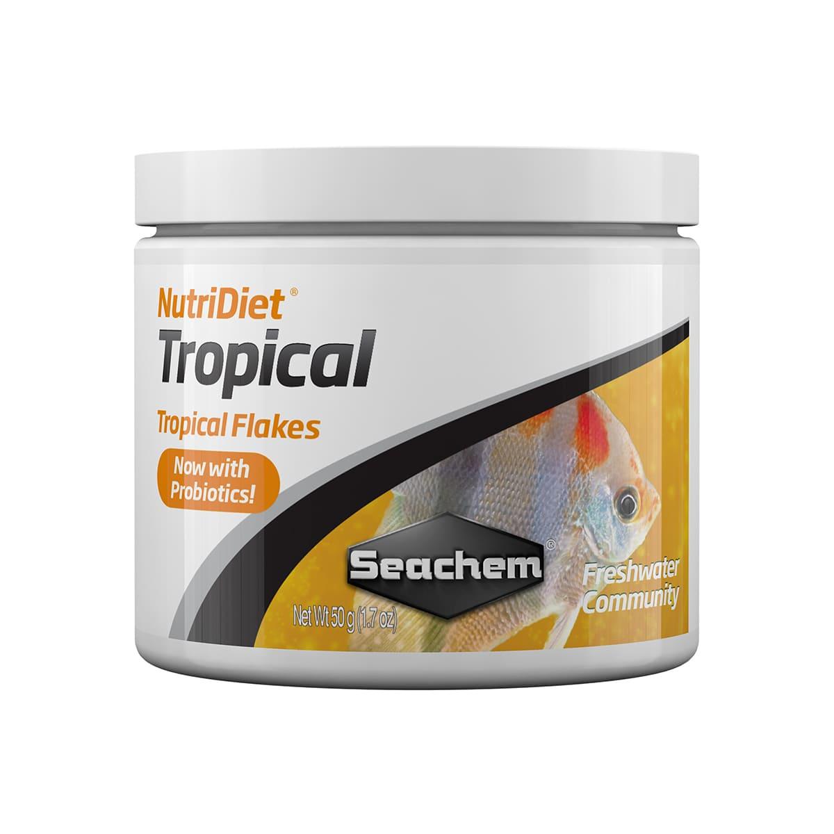 Ração Seachem Nutridiet Flocos Tropicais Probiotic 50g