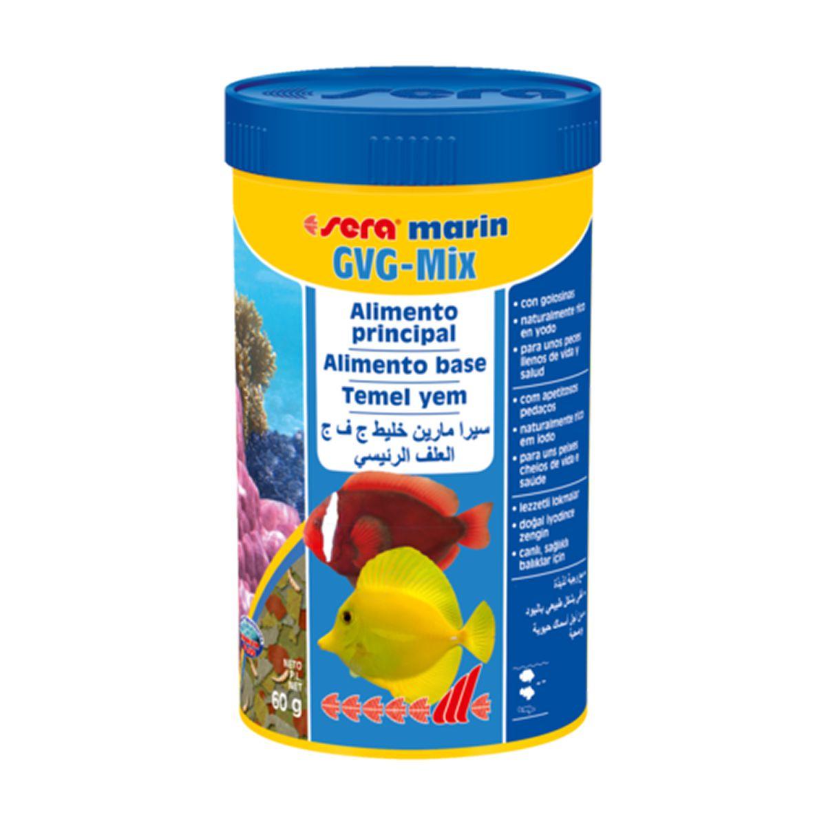 Ração Sera Marin Gvg Mix 60gr Peixe Água Salgada