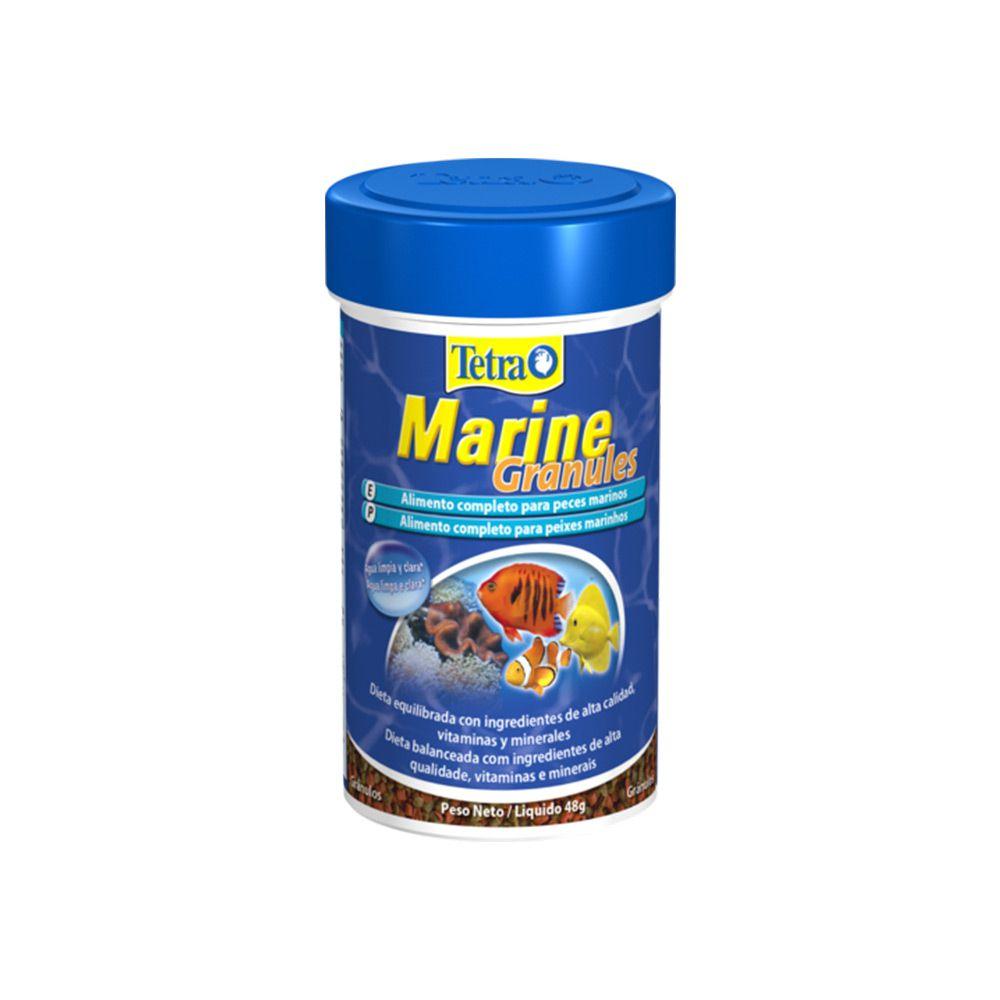Ração Tetra Marine Granules 48g Alimento P/ Peixes Marinhos