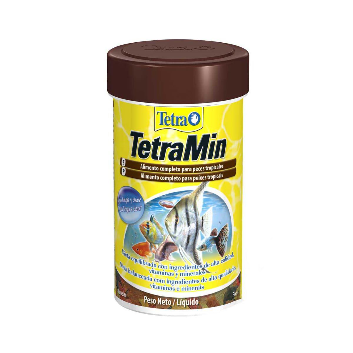 Ração Tetra Min Flakes Em Flocos P/ Peixes Aquario - 20g