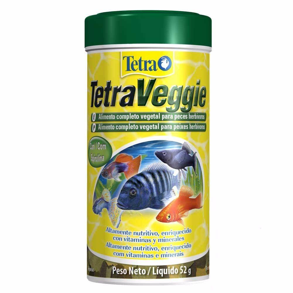 Ração para Peixes Herbívoros Tetra Veggie Flakes - 52g