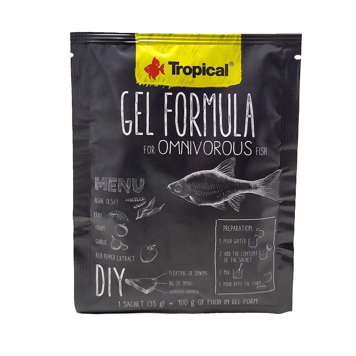 Ração Tropical Gel Formula Omnivorous Fish 35g