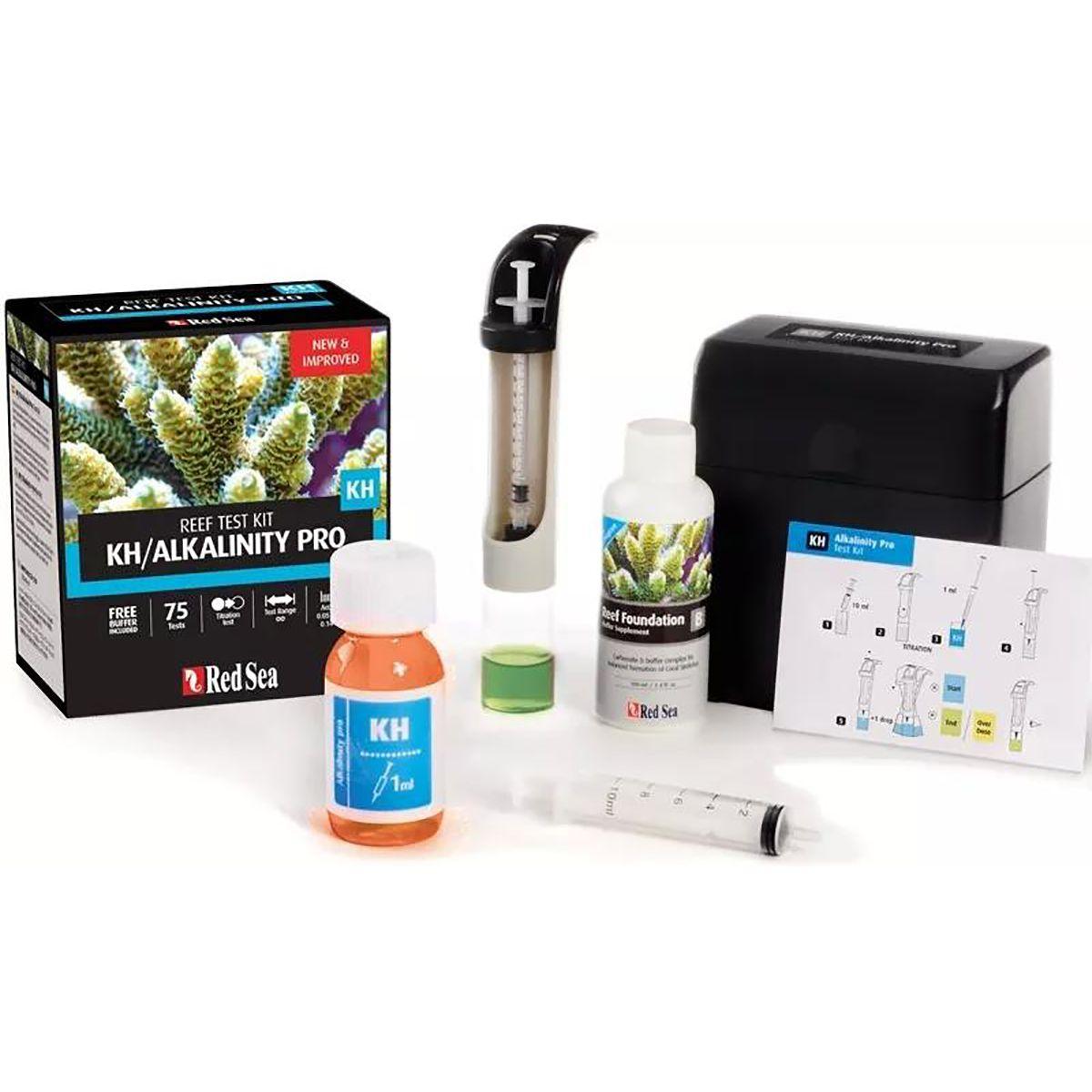 Teste Red Sea Reef Kh/Alkalinity (KH) Pro 75 testes