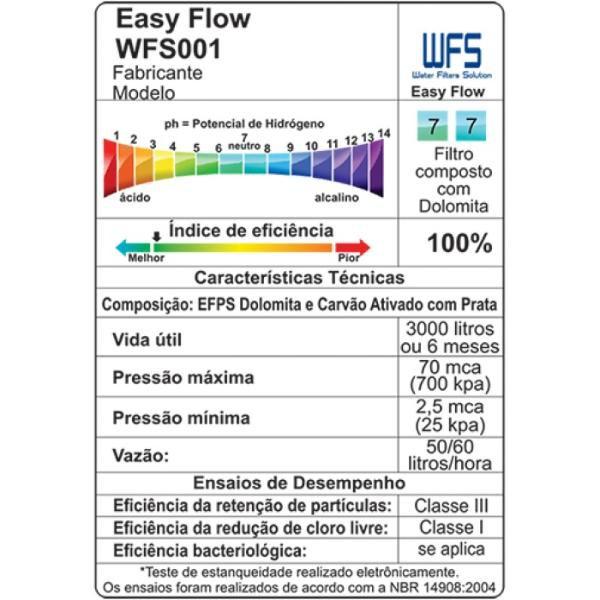 Refil WFS 001 Filtro Easy Flow-  Side By Electrolux Brastemp