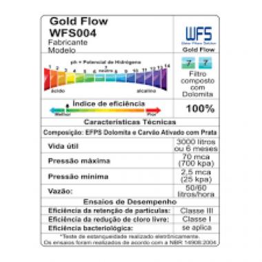 Refil WFS 004 Gold Flow - Para Bebedouros Master Frio
