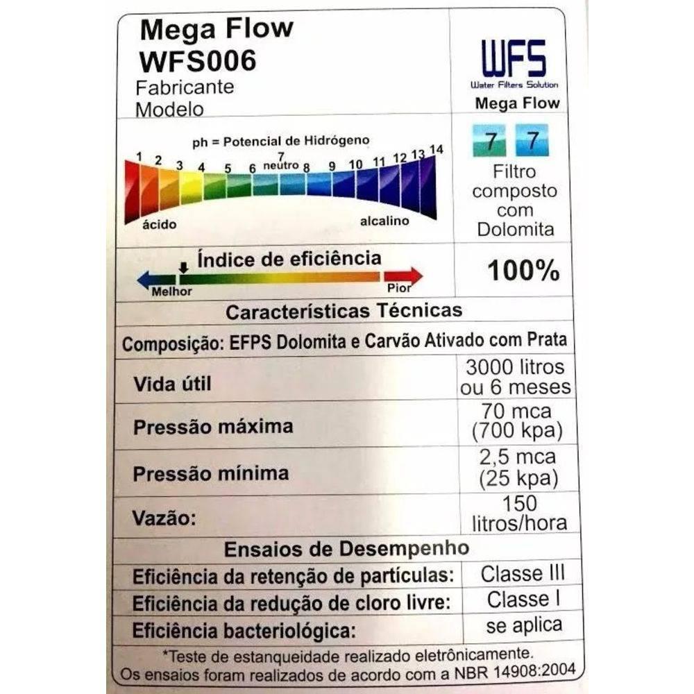 Refil WFS 006 Mega Flow - Filtro Ibbl Bdf-300 Pfn-2000 M