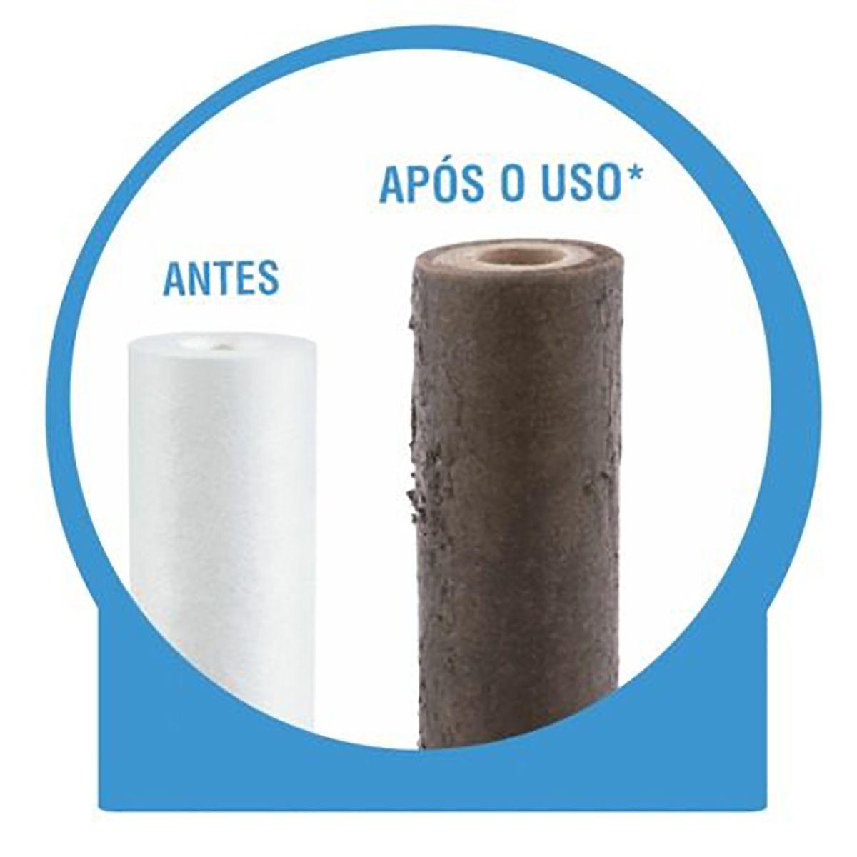 Refil Polipropileno Plissado Lavável 10 Emate 20 micras