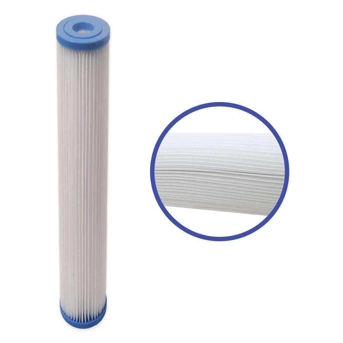 Refil Polipropileno Plissado Lavável 20 Polegadas - 20 micras