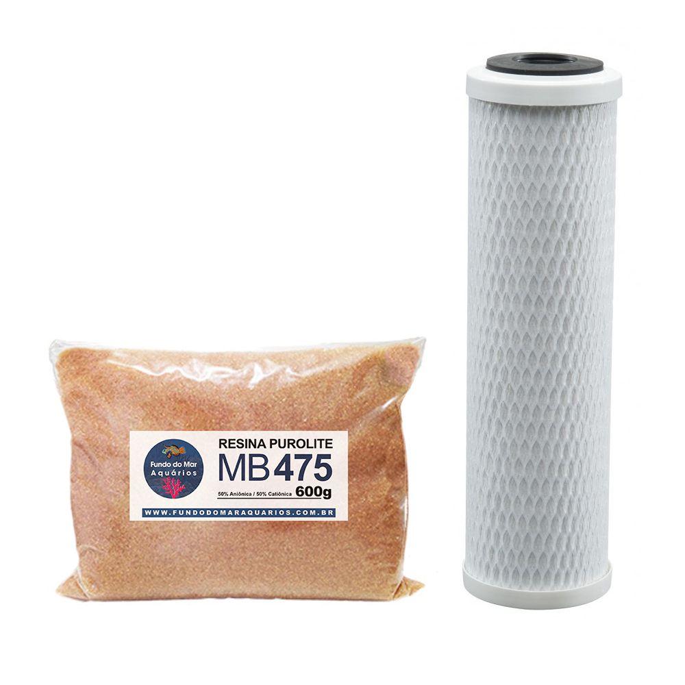 Refil Resina Mista Mb475 Purolite Carvão Block 9.3/4